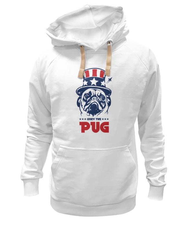 Толстовка Wearcraft Premium унисекс Printio Мопс президент (obey pug) толстовка wearcraft premium унисекс printio obey satrwars
