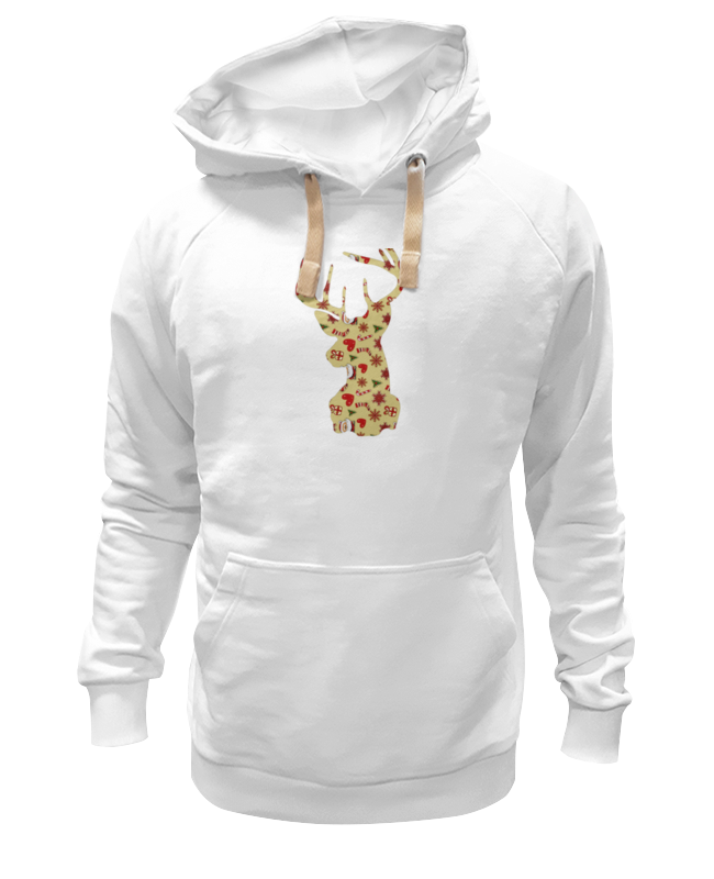 Толстовка Wearcraft Premium унисекс Printio Новогодний олень толстовка wearcraft premium унисекс printio с олень новогодний в свитере