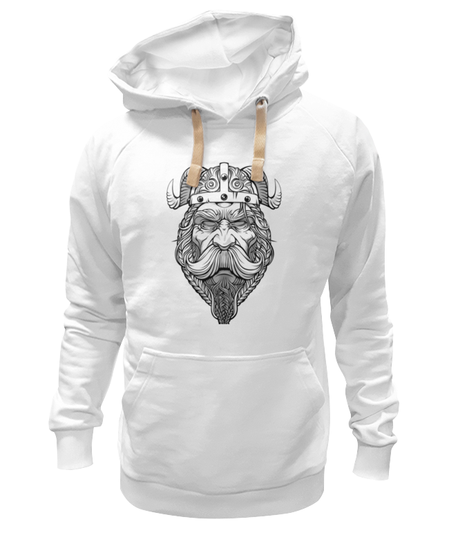 Толстовка Wearcraft Premium унисекс Printio Старый викинг - мудрый воин! футболка wearcraft premium slim fit printio старый викинг мудрый воин