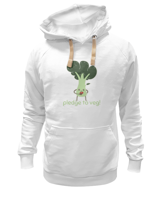 Толстовка Wearcraft Premium унисекс Printio Pledge to veg цены онлайн