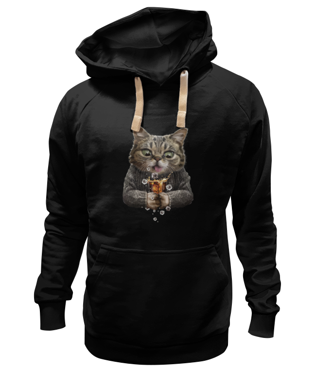 Толстовка Wearcraft Premium унисекс Printio Whiskey cat hp 260 g2 dm