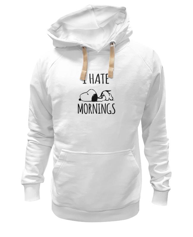 Толстовка Wearcraft Premium унисекс Printio Я ненавижу утро (i hate mornings) толстовка hate hate cat черный s
