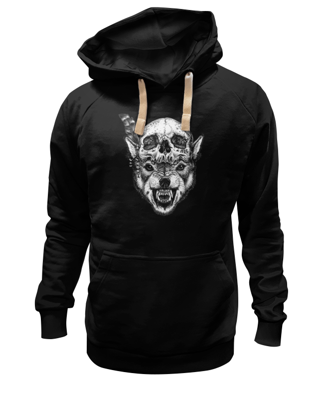 Толстовка Wearcraft Premium унисекс Printio Wolf & skull толстовка wearcraft premium унисекс printio lone wolf