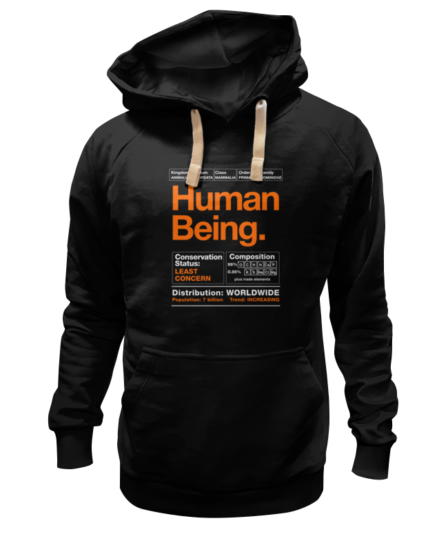 Толстовка Wearcraft Premium унисекс Printio Human being