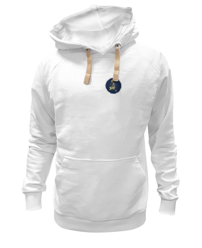 Толстовка Wearcraft Premium унисекс Printio плоская земля (мужская, белая) земля воинов русь белая