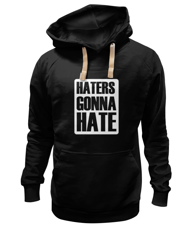 Толстовка Wearcraft Premium унисекс Printio Haters gonna hate толстовка hate hate cat черный s