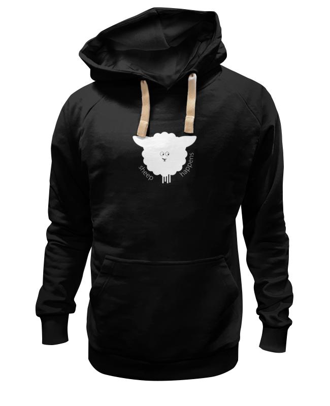 Толстовка Wearcraft Premium унисекс Printio Round sheep black baa baa black sheep
