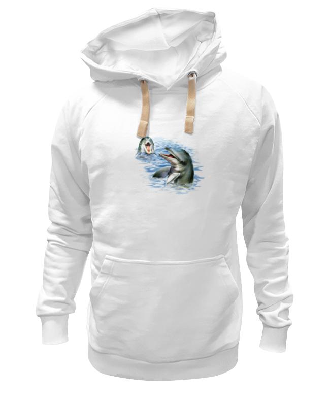 Толстовка Wearcraft Premium унисекс Printio Дельфины наклейка для интерьера дельфины