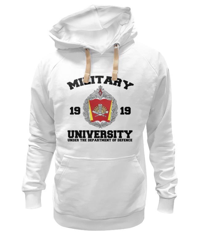 Толстовка Wearcraft Premium унисекс Printio 2016 военный университет мо рф (белая)
