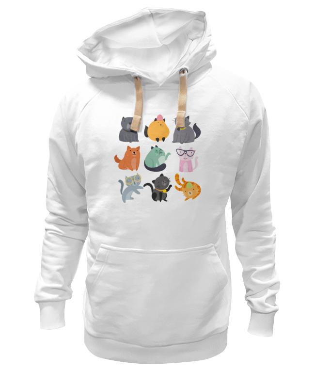 Толстовка Wearcraft Premium унисекс Printio Цветные кошки толстовка wearcraft premium унисекс printio кошки не дети