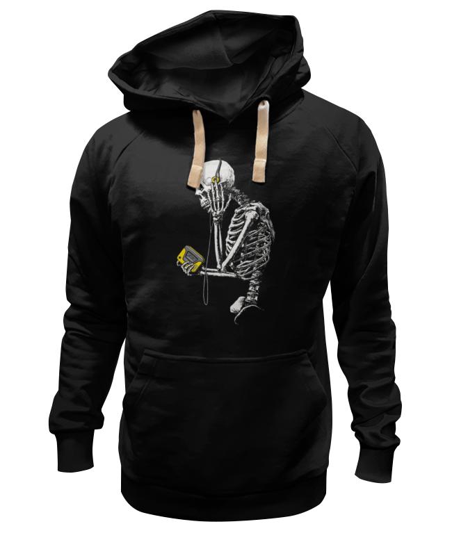 Толстовка Wearcraft Premium унисекс Printio Скелет с плеером