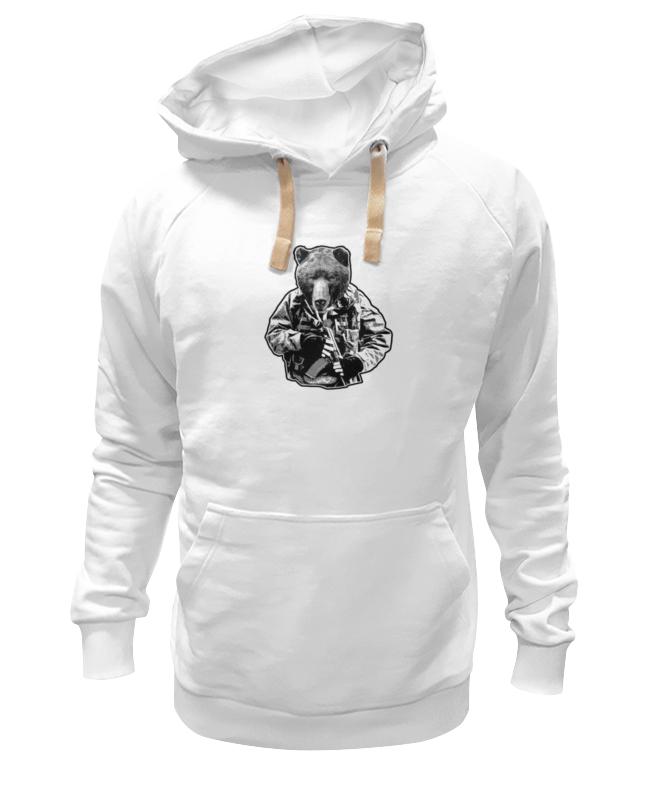 Толстовка Wearcraft Premium унисекс Printio Медведь солдат футболка рингер printio медведь солдат
