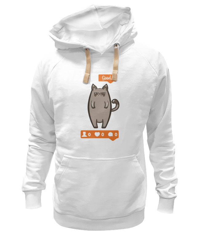 Printio Угрюмый котик толстовка wearcraft premium унисекс printio сердитый котик grumpy cat штамп