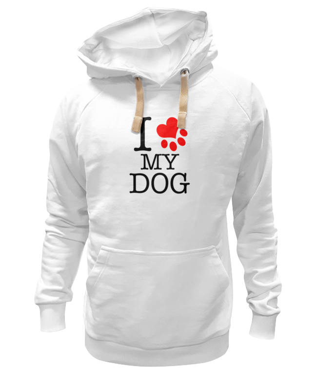 Толстовка Wearcraft Premium унисекс Printio I love my dog