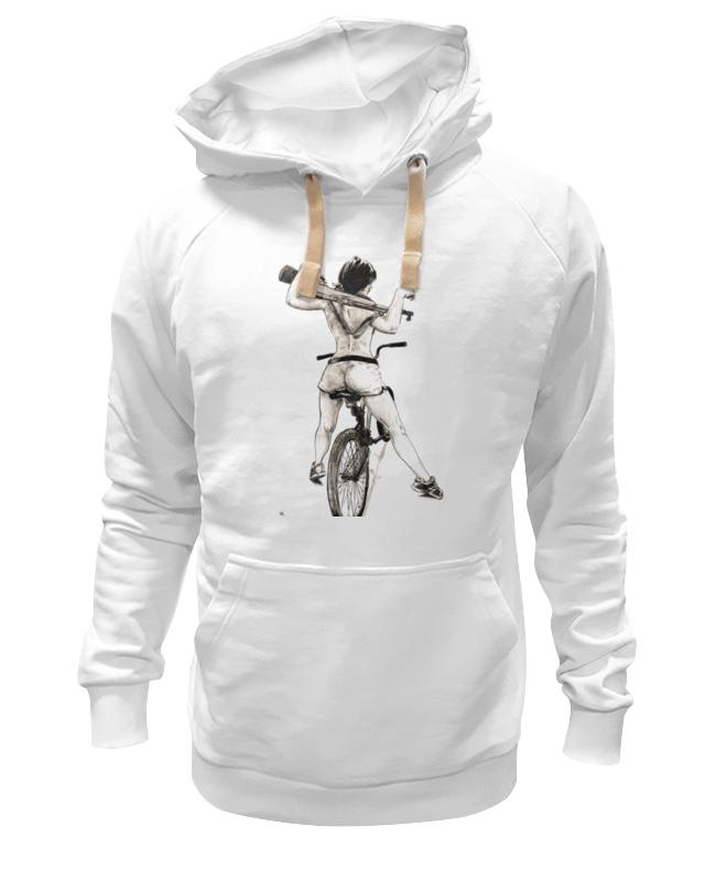 Толстовка Wearcraft Premium унисекс Printio Девушка, карабин, велосипед толстовка wearcraft premium унисекс printio велосипед