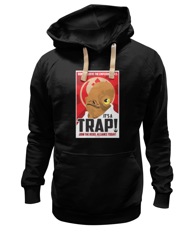 Толстовка Wearcraft Premium унисекс Printio It's a trap! [sa]mersen smartspot fuse amp trap fuses ajt4 4a 600v 27 51mm