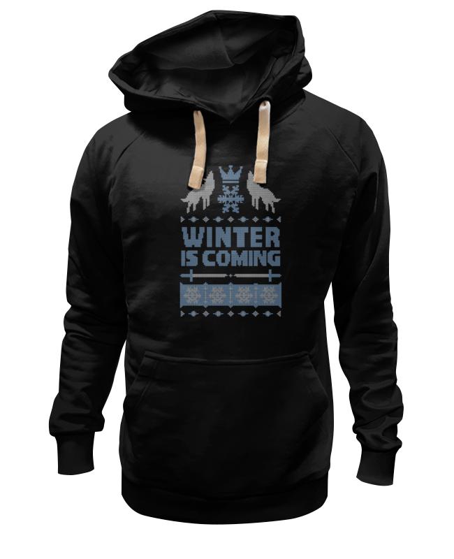 Толстовка Wearcraft Premium унисекс Printio Winter is coming три вороньи крылья игра престолов direwolf ghost house of stark winter coming куртка толстовка толстовка