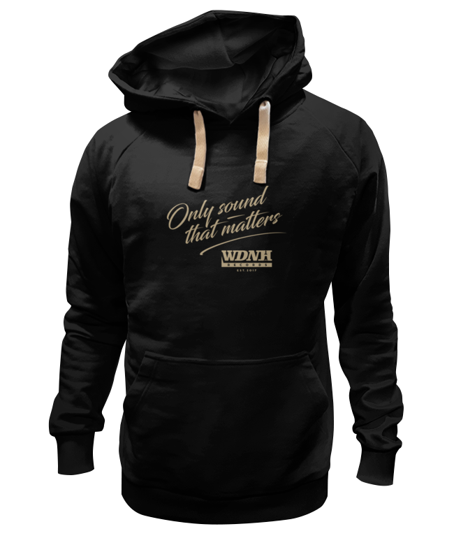 Толстовка Wearcraft Premium унисекс Printio Wdnh records black hoodie buff hoodie black black