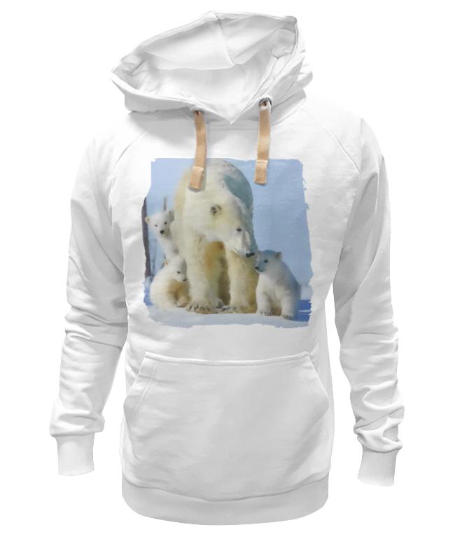 Толстовка Wearcraft Premium унисекс Printio Белая медведица с медвежатами цена