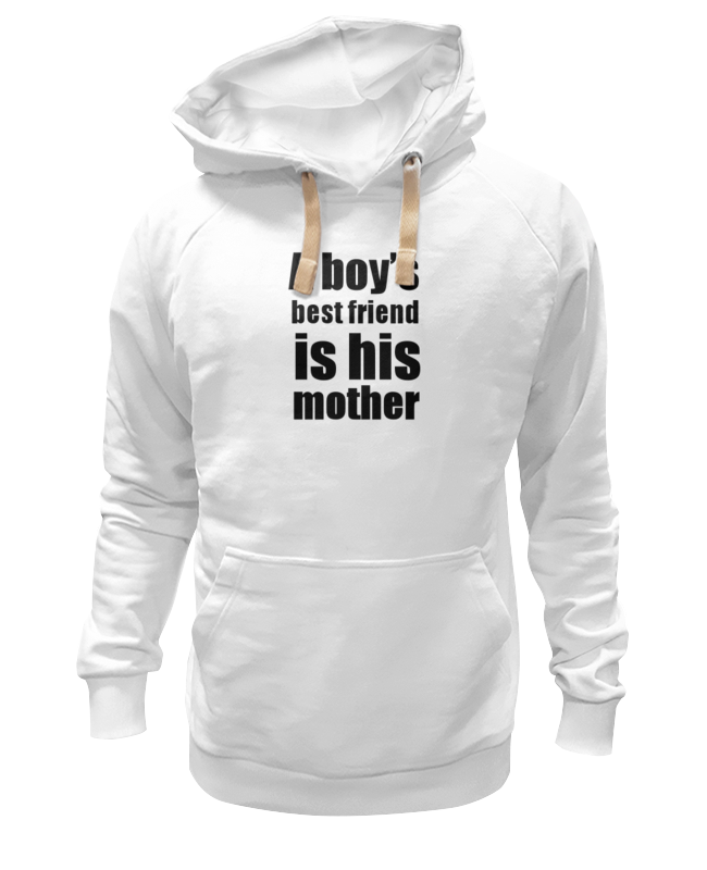 Толстовка Wearcraft Premium унисекс Printio A boy's best friend is his mother alliluyeva s twenty letters to a friend a memoir