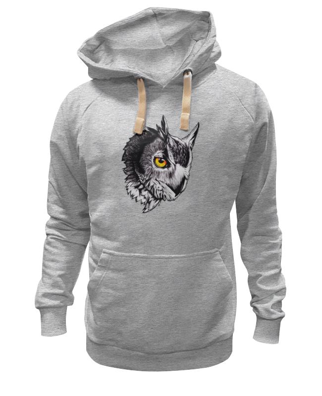 Printio Owl gray толстовка wearcraft premium унисекс printio godzilla gray