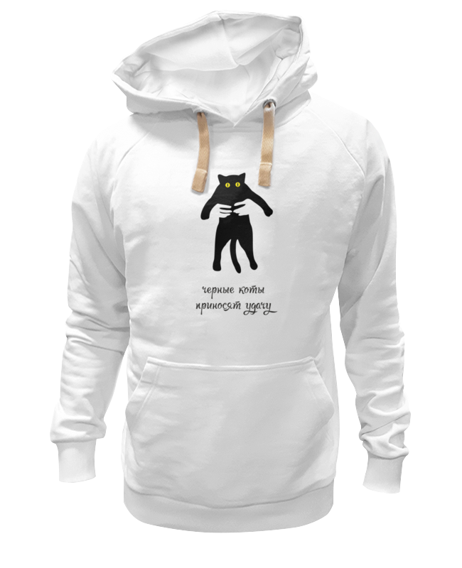 Толстовка Wearcraft Premium унисекс Printio Черные коты приносят удачу
