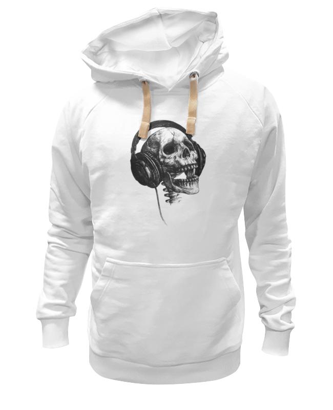 Толстовка Wearcraft Premium унисекс Printio Череп в наушниках толстовка wearcraft premium унисекс printio i love music череп в наушниках