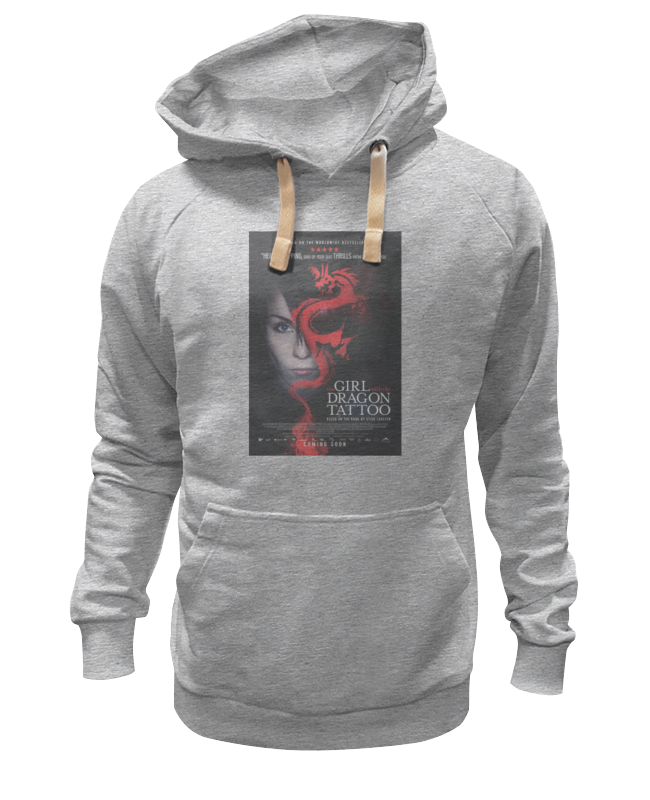 Толстовка Wearcraft Premium унисекс Printio Девушка с татуировкой дракона футболка wearcraft premium slim fit printio девушка с татуировкой дракона