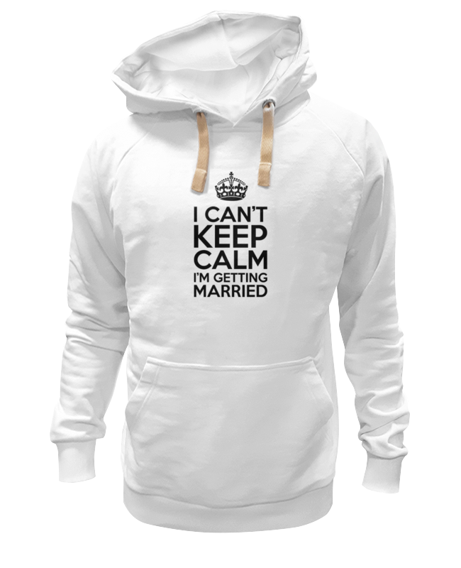 Толстовка Wearcraft Premium унисекс Printio I cant keep calm i am getting married цена и фото