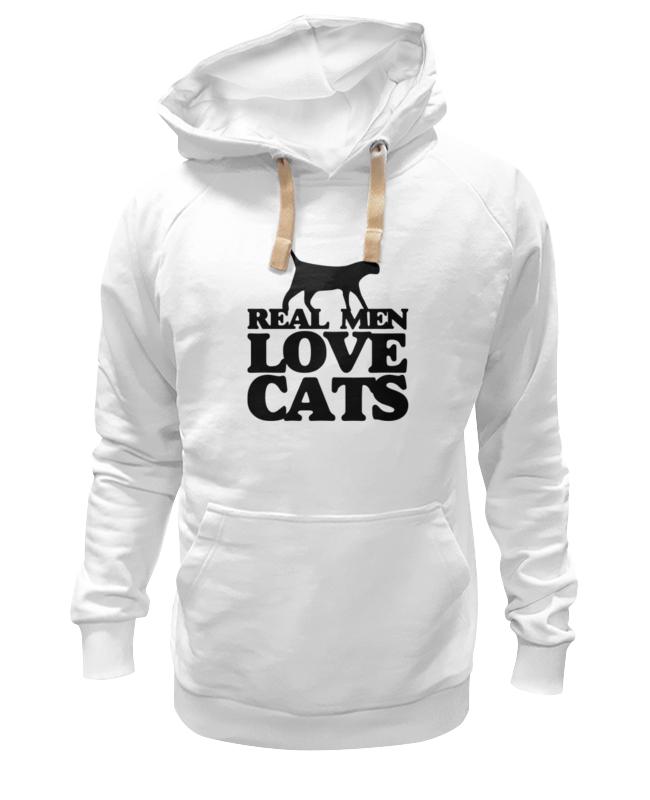 Толстовка Wearcraft Premium унисекс Printio Мужчины любят кошек мужчины цветочные печатный толстовки толстовка с капюшоном