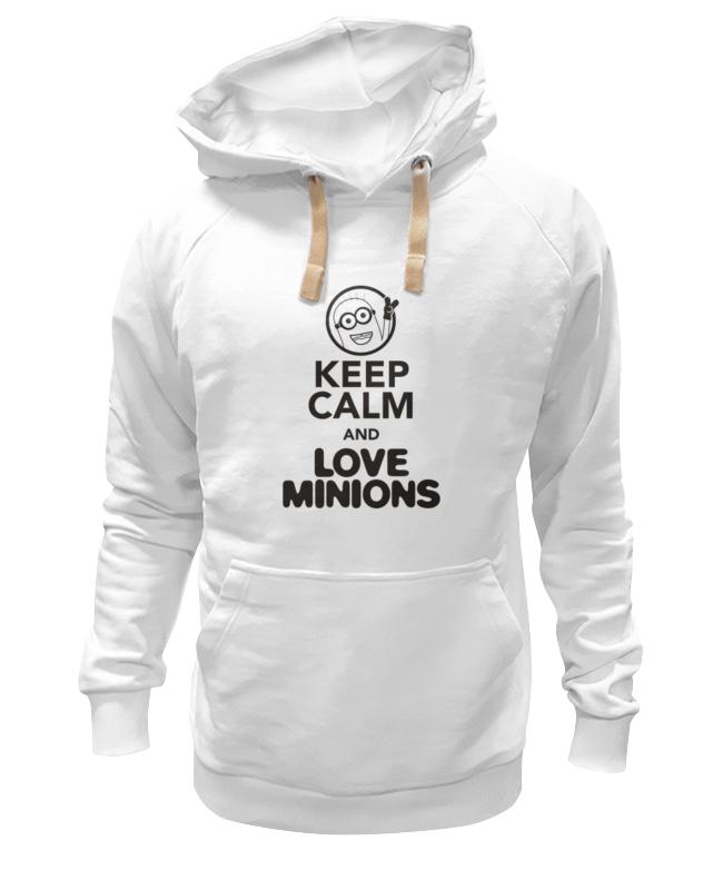 Толстовка Wearcraft Premium унисекс Printio Keep calm & love minions сумка printio keep calm and love sport