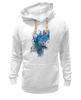 """Толстовка Wearcraft Premium унисекс """"ART ZOO"""" - birds, blue, синие птицы"""