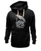 """Толстовка Wearcraft Premium унисекс """"Белая Ворона"""" - skull, череп, птицы, ворона, ворон"""