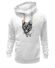 "Толстовка Wearcraft Premium унисекс ""пантера"" - кошка, cat, графика, маска, пантера, дотворк, panther, tm kiseleva"