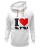 """Толстовка Wearcraft Premium унисекс """"i love NY"""" - new york"""