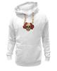 """Толстовка Wearcraft Premium унисекс """"Mrs. Skull"""" - череп, цветы, рисунок"""
