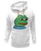 """Толстовка Wearcraft Premium унисекс """"Грустная лягушка"""" - мем, мемы, пепе"""