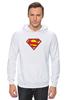 "Толстовка Wearcraft Premium унисекс ""Супермен"" - супермен, superman, логотип"
