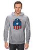 "Толстовка Wearcraft Premium унисекс ""Капитан Америка (Captain America)"" - капитан америка, captain america"