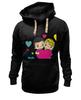 "Толстовка Wearcraft Premium унисекс ""love is..."" - heart, i love, love is"