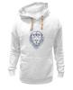 """Толстовка Wearcraft Premium унисекс """"Лев в шапке"""" - лев, lion, царь зверей, лев в шапке"""