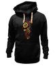 "Толстовка Wearcraft Premium унисекс ""Хохлома"" - цветы, узор, орнамент, хохлома"