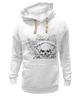 "Толстовка Wearcraft Premium унисекс ""Череп"" - музыка, череп, арт, модно, узор, рок, ужас, кости, орнамент, тату"