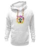 """Толстовка Wearcraft Premium унисекс """"Радужный енот"""" - арт, радуга, rainbow, иллюстрация, енот, racoon"""
