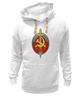 """Толстовка Wearcraft Premium унисекс """"НКВД Эмблемма"""" - кгб, нквд, россия, серп и молот, ссср"""