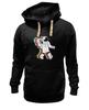 "Толстовка Wearcraft Premium унисекс ""Музыкальный астронафт"" - музыка, арт, music, плеер, рисунок, космос, astronaut, радио, radio, астронафт"