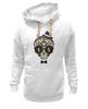 """Толстовка Wearcraft Premium унисекс """"Череп в шляпе и бабочке"""" - skull, череп, арт, hat"""