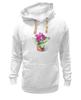 """Толстовка Wearcraft Premium унисекс """"цветы """" - арт, цветы, акварель, герань"""