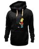 "Толстовка Wearcraft Premium унисекс ""Bart Simpson & Chalkboard"" - симпсоны, the simpsons, bart simpson, барт симпсон"