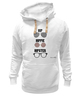 "Толстовка Wearcraft Premium унисекс ""HipHipiHipster"" - очки, хипстер, hippie, хиппи, hip, hipster"